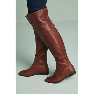 "Seychelles Brown ""News Flash"" Over The Knee Boots"